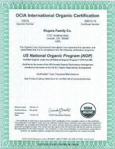 OCIA International Organic Certification